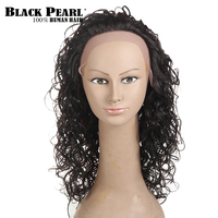 Black Pearl 18inch Long Curly Hair Lace Front Wigs For Black Women Remy 100% Human Hair Wigs Afro Hair Party Full Cosplay wig