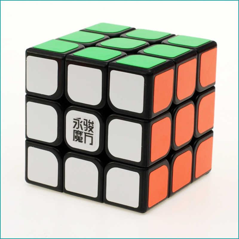 YJ 3 × 3 マジックキューブ YJ8304 ユーロン透明スピードキューブマジックキューブパズルのおもちゃ立方
