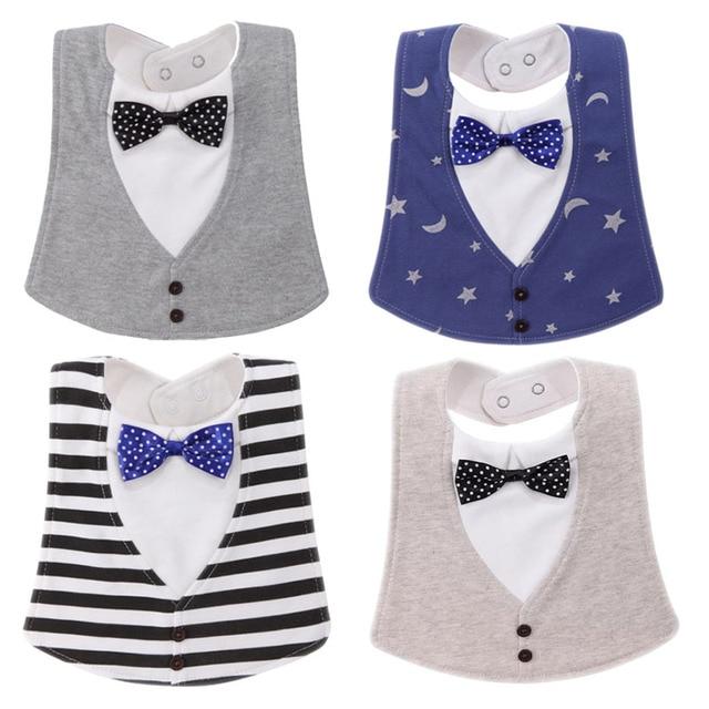 Bib Baby Bibs Baberos Babador Bavoir Slabber Waterproof Cotton Stripe printing Infant Cloths 0-24 months