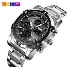Marka SKMEI męskie zegarki cyfrowe moda odliczanie Chronograph sportowy zegarek wodoodporny luksusowy Luminous elektroniczny zegarek zegar