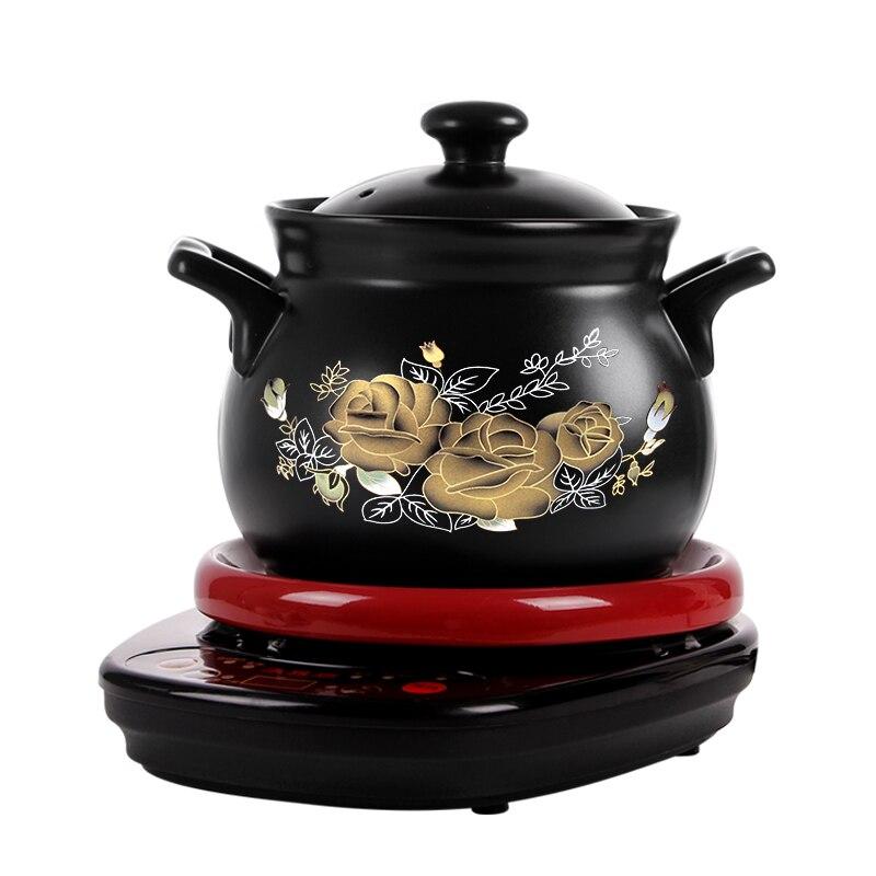 Entièrement automatique marmite Électrique cuisinières 1-5L céramique Santé cocotte Électrique Porridge Ménage casserole cuisinière sous vide