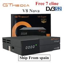 цена на GTMedia Freesat V9 Super Full HD H.265 DVB-S2 decoder Satellite Receiver Same Built Wifi V8 Nova 1 Year Europe Cccam line Free