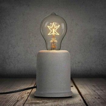 Lampe De Chevet Américain Rétro Personnalité Créative Chambre Lampe De Table Café Café Ciment Béton étude Lampes De Bureau LU813939