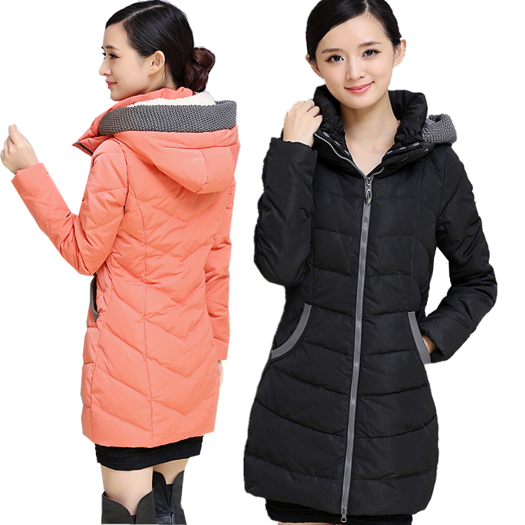 Winter Coat Women Fashion Warm Coats 2016 New Arrival Fashion Long Sleeve Hooded Jackets Slim Casual Parka Coat A3926