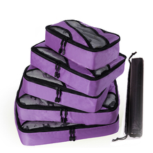 QINYIN Weekend Bag Shoe Carry on Suitcase 5pcs/set New Breathable Travel Packing Cubes Luggage Organizers