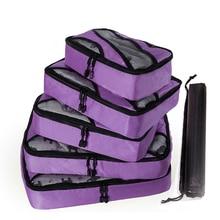 QINYIN Weekend Bag Shoe Bag Carry on Suitcase 5pcs/set New Breathable Travel Bag Packing Cubes Luggage Packing Organizers bagsmart 7 pcs set packing cubes travel luggage packing organizers unisex weekend luggage bag travel organizers with laundry bag