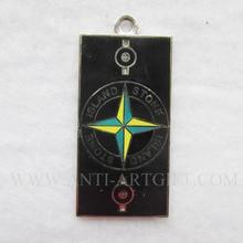Изготовленный на заказ мягкий эмаль причудливый noctillucence брелок на шею кружева краситель черный металл зеленый желтый цвет звезда без MOQ