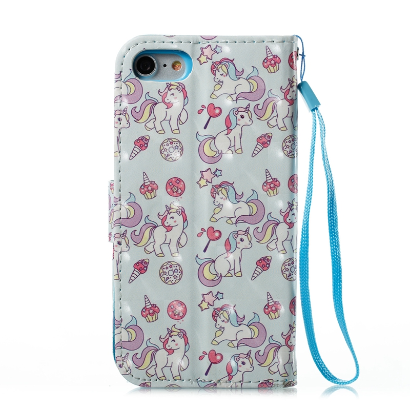 Flamingos Phone Case For Coque Apple iPhone 7 Case Bling Flip Wallet Leather Cover Fundas for iPhone 7 8 Plus Case Etui Capinha