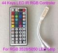 44 Teclas de IR LED RGB mini Controlador Para RGB SMD 3528 5050 LEVOU Tira Luzes LED Controlador IR Remote Dimmer Entrada DC5V/12V24V 6A