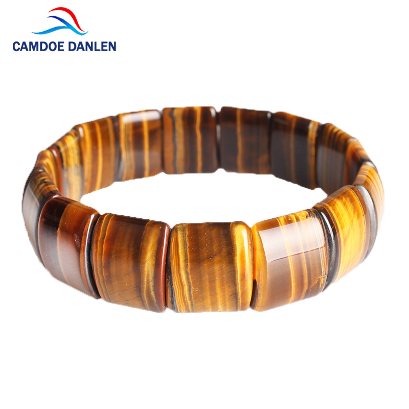 CAMDOE DANLEN Natural Stone Bracelets Tiger Eye Buddha Elasticity Rope Bracelet Charm Reiki Yoga Bangle For Women Men Jewelry