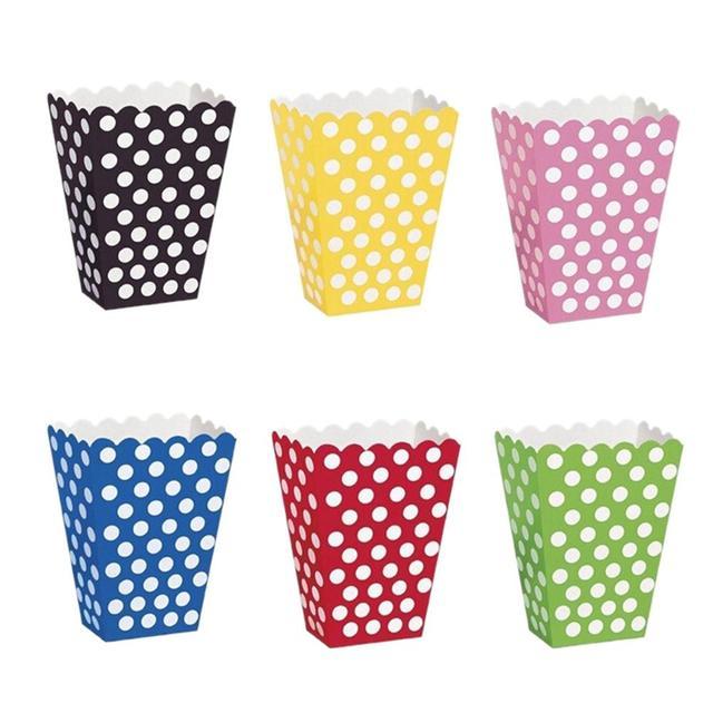 6 unids/pack patrón colorido de lunares papel palomitas del caramelo ...