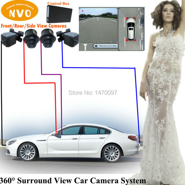 Surround View Hd Car Rear View Parking Backup Reversing