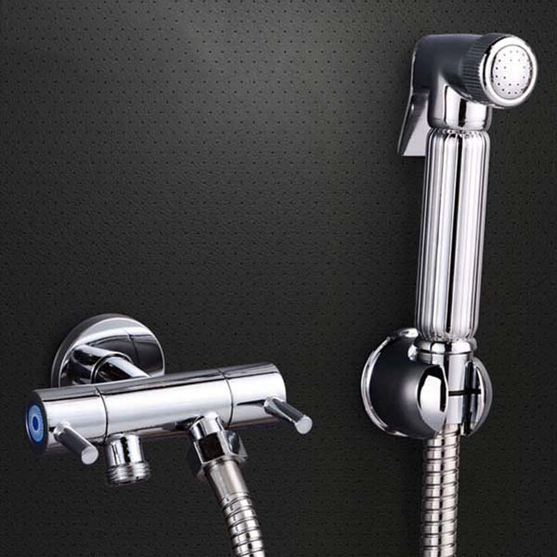 Hot Brass Toilet Shower Spray Set and 1.5m Stainless Steel Flexible Hose Bathroom accessories Shower valves hot brass toilet shower spray set and 1 5m stainless steel flexible hose bathroom accessories shower valves