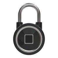 Door Lock For IOS Android Bluetooth Lock Phone APP Waterproof Keyless Fingerprint Lock Unlock Anti Padlock