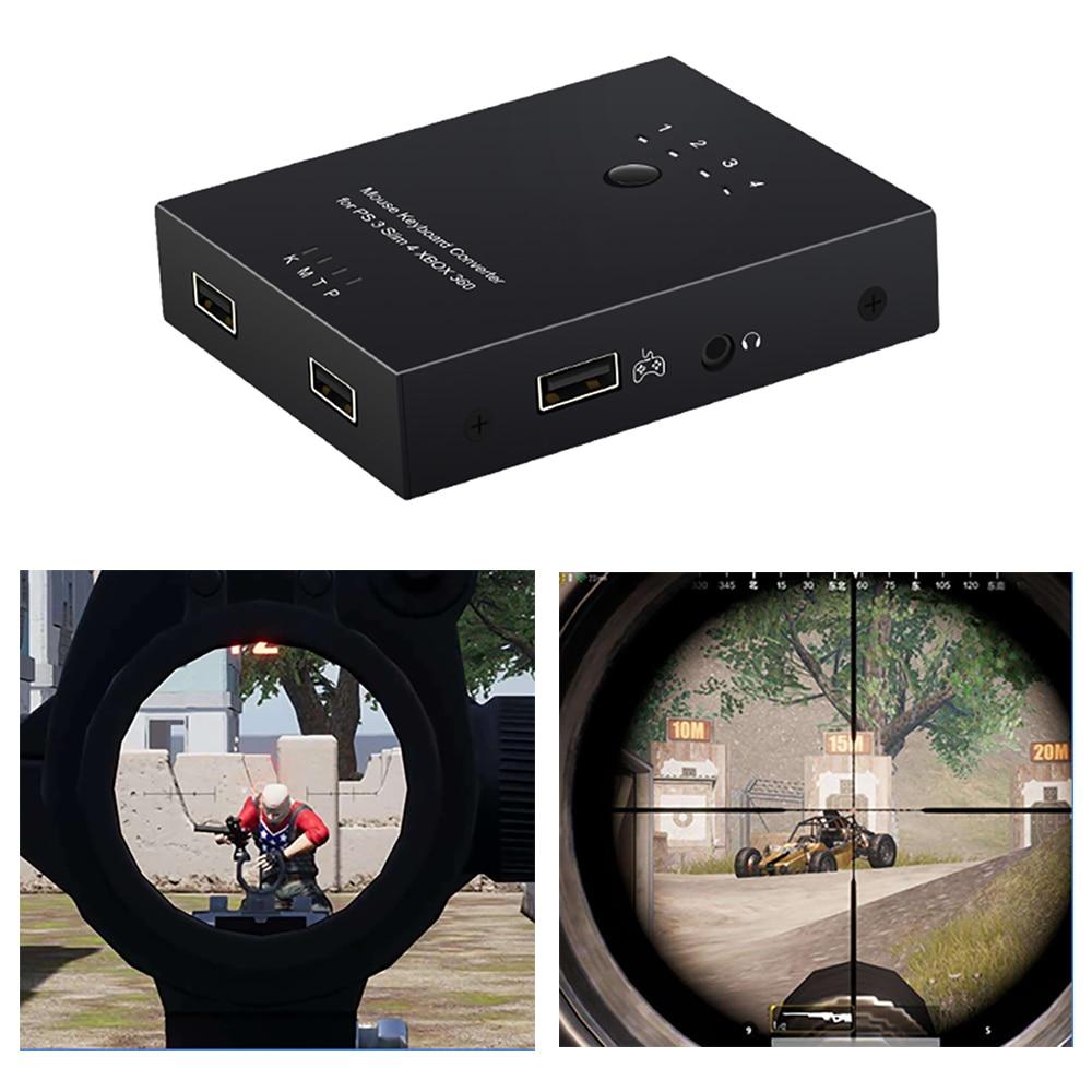 Adaptador De Teclado Con Controlador De Ratón Usb Para Sony Ps4/ps3/xbox One 360/fps Juega Al Mejor Jugador De Regalo Material Seleccionado