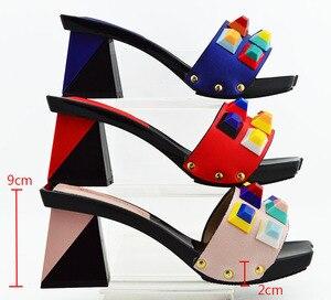 Image 4 - Zapatos y bolsos de diseño italiano a juego, zapatos de fiesta, boda con zapatos y Bolsa de moda, tacones africanos, 8 cm, MD011