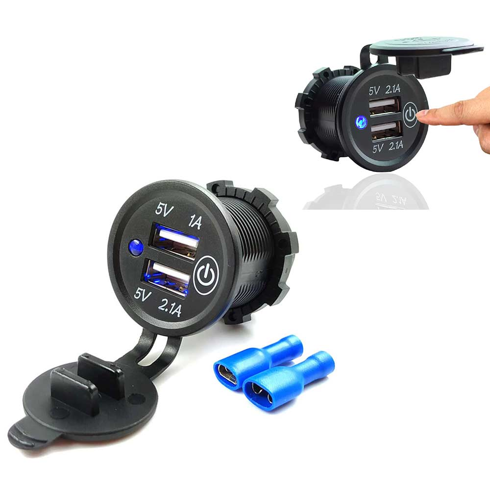 Socket Charger Outlet Boat Cigarette-Lighter Power-Adapter Touch-Switch Mobile-Phone