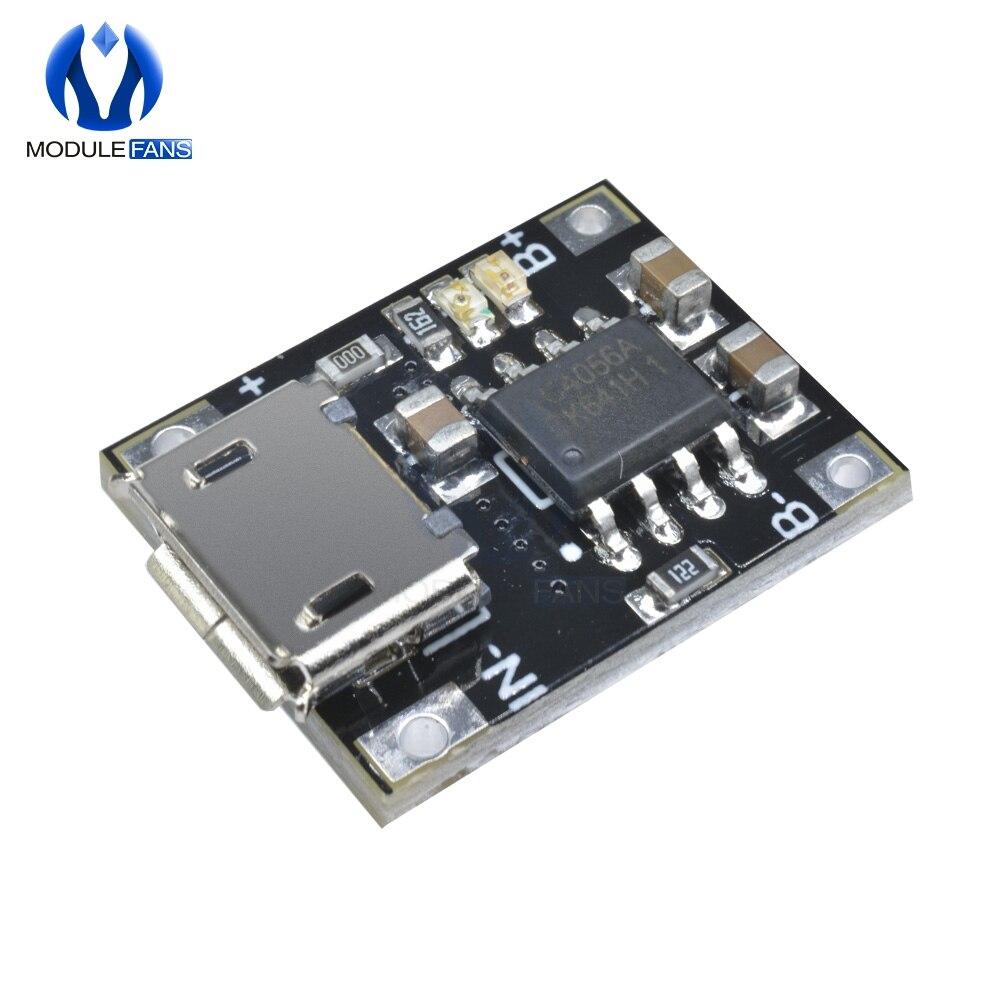 5 шт., модуль зарядного устройства для литиевого аккумулятора с одной ячейкой, 1 А, 5-6 в, 4,2 в, TC4056, TC4056A, Стандартная плата TP4056