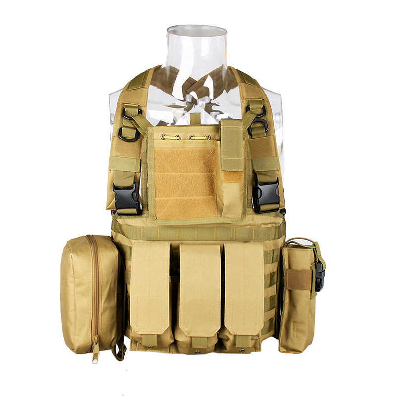 Military Tactical Vest Tactical Molle Army Outdoor Combat Vest Airsoft War Game Black Outdoor Hunting Vest for Camping Hiking