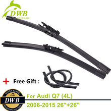 2PCS ECO Wiper Blades for Audi Q7 (4L) 2006-2015 26″+26″, Free 2Pcs Rubbers, Direct Fit Windscreen Wipers