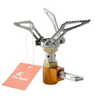2017 New Fire Maple Mini Gas Stove Titanium Stove Outdoor Camping Picnic Gas Burners Estufa De Gas FMS-300T 45g 2600W