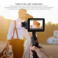 Wewow GP1+ 2 axis gopro gimbal camera mount rod holders with camera hd rotatable 3.5