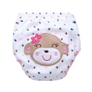 Image 3 - 卸売30ピース/ロット送料無料子供綿赤ちゃん動物おまる赤ちゃん防水トレーニングパンツ幼児学習パンツパンパンツ