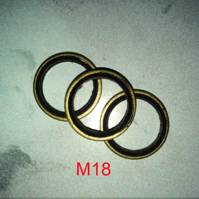 50 PCS BONDED O RING SEAL WASHER OIL DRAINS PLUG RUBBER METAL ...