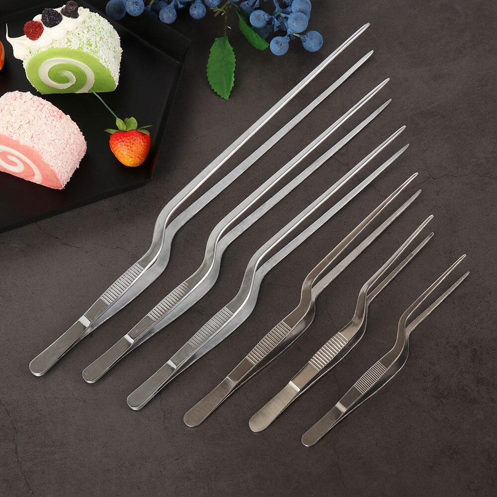 Щипцы для барбекю из нержавеющей стали кухонный инструмент для презентаций, несколько типов, посеребренный Пинцет для шеф-повара, пинцет дл...