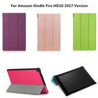 HD10 2017 Version Luxury Ultra Slim Magnetic Stand PU Leather Business Case For Amazon Fire HD
