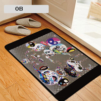 Takashi Murakami Sunflower DOB Carpet Personality Mat Antiskid Footcloth Bedroom Living Room Desk Home Decorations M1156