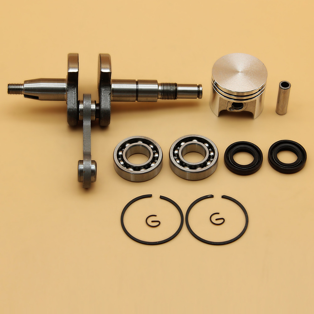 Crankshaft Crank Bearing Oil Seal & 37mm Piston Ring Kit Fit STIHL MS170 MS 170 017 Chainsaw Engine Motor Parts