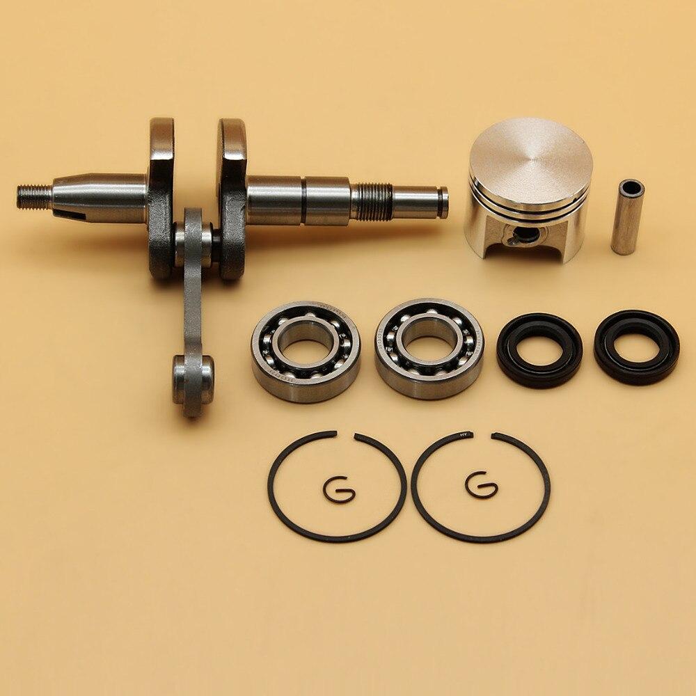 Kurbelwelle Kurbel Lager Öl Dichtung & 37mm Kolben Ring Kit Fit STIHL MS170 MS 170 017 Kettensäge Motor Motor teile