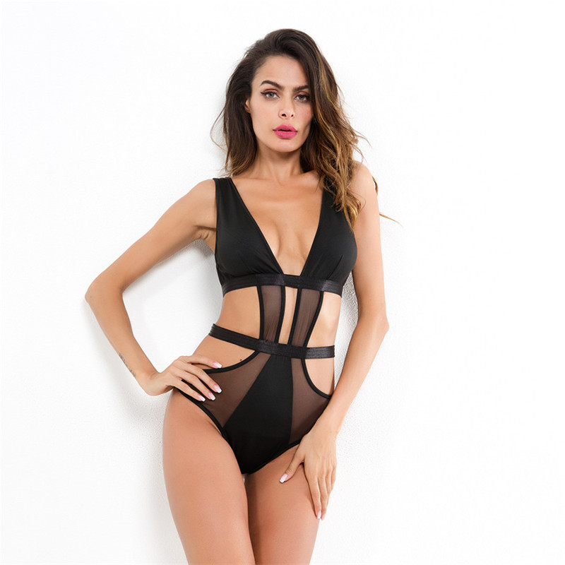 Women Catsuit Sexy Lingerie Bodysuit Nightwear Lingerie Sexy Hot Erotic Porno Bodysuit Underwear Erotic Lingerie Teddy Body Suit in Teddies Bodysuits from Novelty Special Use