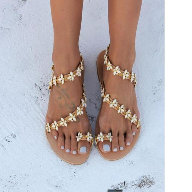 5f5e36d36 2018 New Women Boho Sandals Star Diamond Crystal Drill Sandals Female  Women's Shoes Flat Bottom Big
