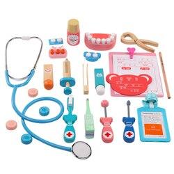 20 шт./компл. Дети Притворяться доктор игра игрушка деревянный Косплэй моделирование стоматолог аксессуары инструменты дети играют врачи иг...