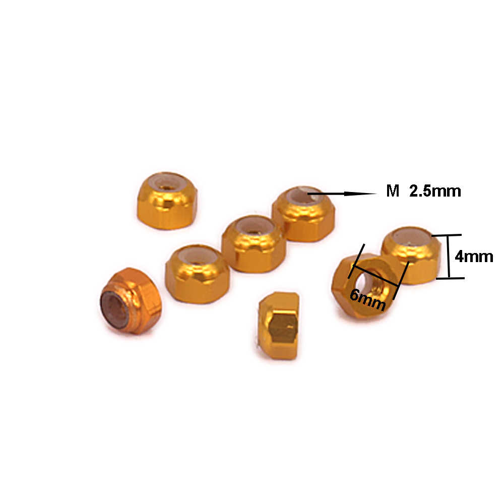 8 stuks Lichtmetalen Wiel voor auto Wltoys A959 Hex Lock Moer Band Moer Voor Rc Hobby Model Auto 1/18 1/18 wielen A969 A979 K929 A580042