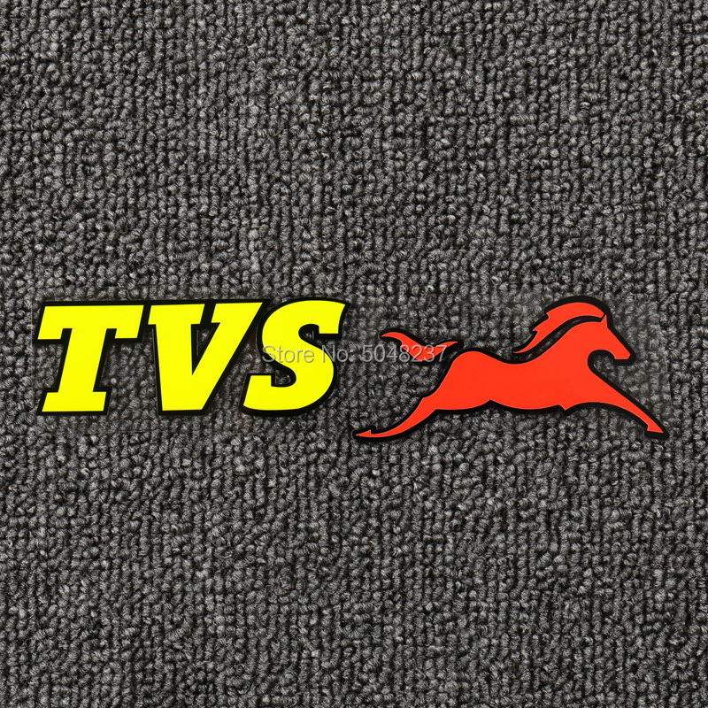 FASP PVC Fluorescent Sticker Red Yellow Decal For TVS Apache Motorcycle