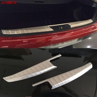 2x Stainless Steel Silver Car Scuff Plate Door Sill Trim Covers Sticker Fit For 2014 2015