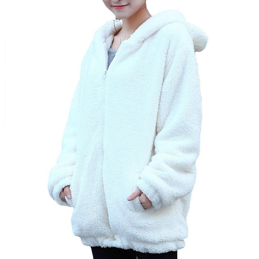 32c8cbc8 женская толстовка в виде медведя девушка зима широкий кардиган пушистый  медведь толстовка с капюшоном с ушами и хвостом панда теплая одежда пальто  кофта ...
