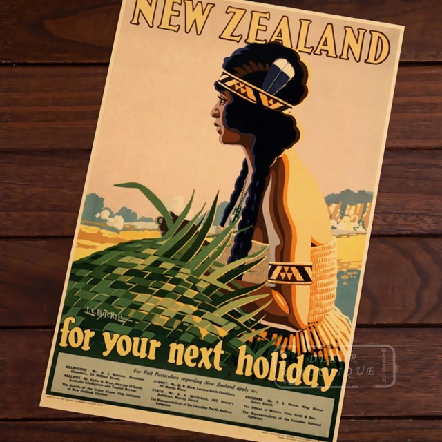 For your next holiday Pop Art New Zealand NZ Vintage Retro Canvas ...