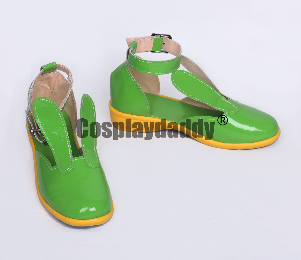 Sound Voltex Green Daily Cosplay Shoes S008
