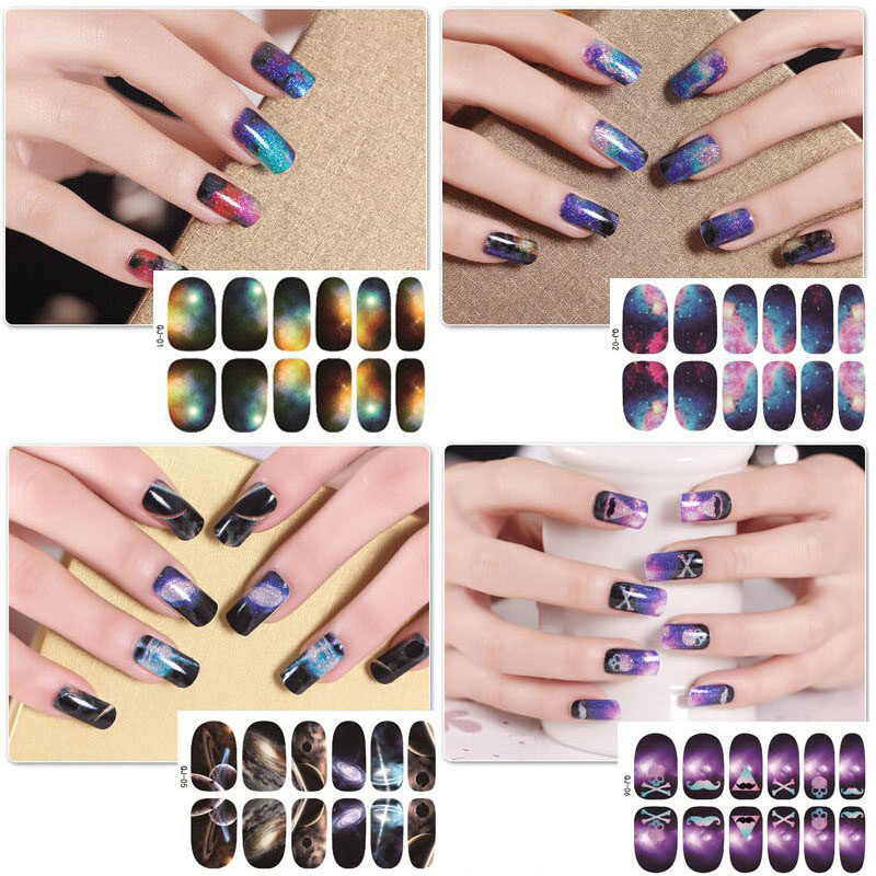 ヾ(^▽^)ノNew Water Transfer Foils Nails Sticker Gel Polish Self ...