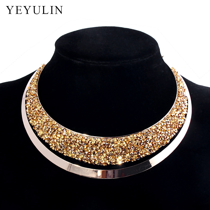 Luxury Full Crystal Choker Necklace Exag