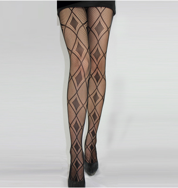 Black Sexy Fishnet Pattern Jacquard Stockings Pantyhose Tights  skull Woman 1pcs dww36 5