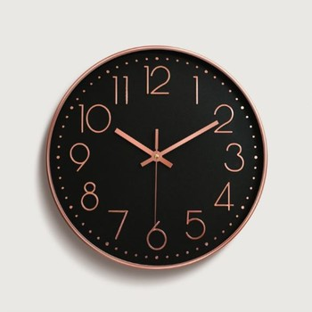7173ba2cbb0d 2019 12 pulgadas de oro rosa Reloj de pared escala Digital reloj de cuarzo  para habitaciones de niños