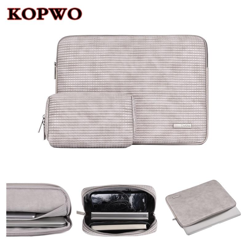 KOPWO Gray Laptop Liner Sleeve Bag Notebook Inner Bag for font b Apple b font font