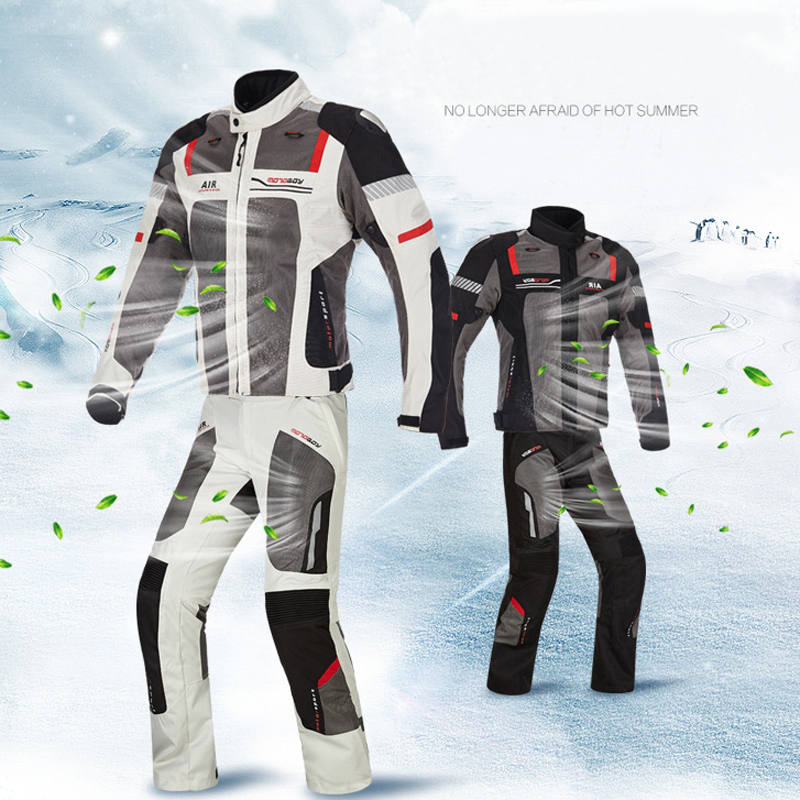 Home Nett Motoboy Sommer Atmungsaktiv Motorrad Racing Jacke & Hosen Reflektierende 600d Oxford Kleidung Motocross Anzüge Mit Ce Schutz Getriebe