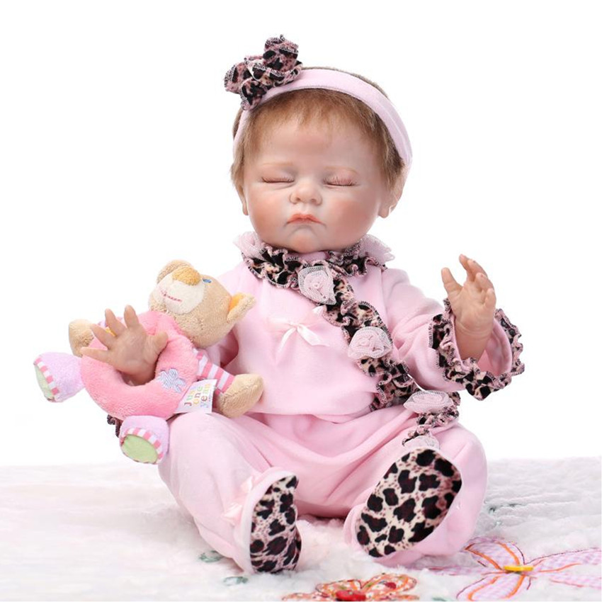 Vivid Newborn Doll Lifelike Baby Sleeping Doll with Clothes,47 CM Silicone Reborn Dolls Educational Toys for Kid vivid silicone reborn baby dolls newborn doll toys for girl children 21 newborn baby boy doll sleeping dolls