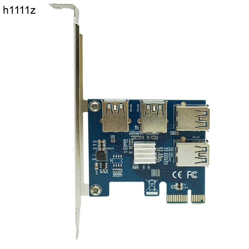 PCI-E 1X to 4 PCI-E 16X Slots Riser Card External Adapter PCI-E 1 to 4 Port Card Multiplier Riser Card for Bitcoin Miner Machine 5pcs 1 to 4 pcie pci express 16x riser card pci e 1x to external 4 pci e slot adapter multiplier card for bitcoin miner mining